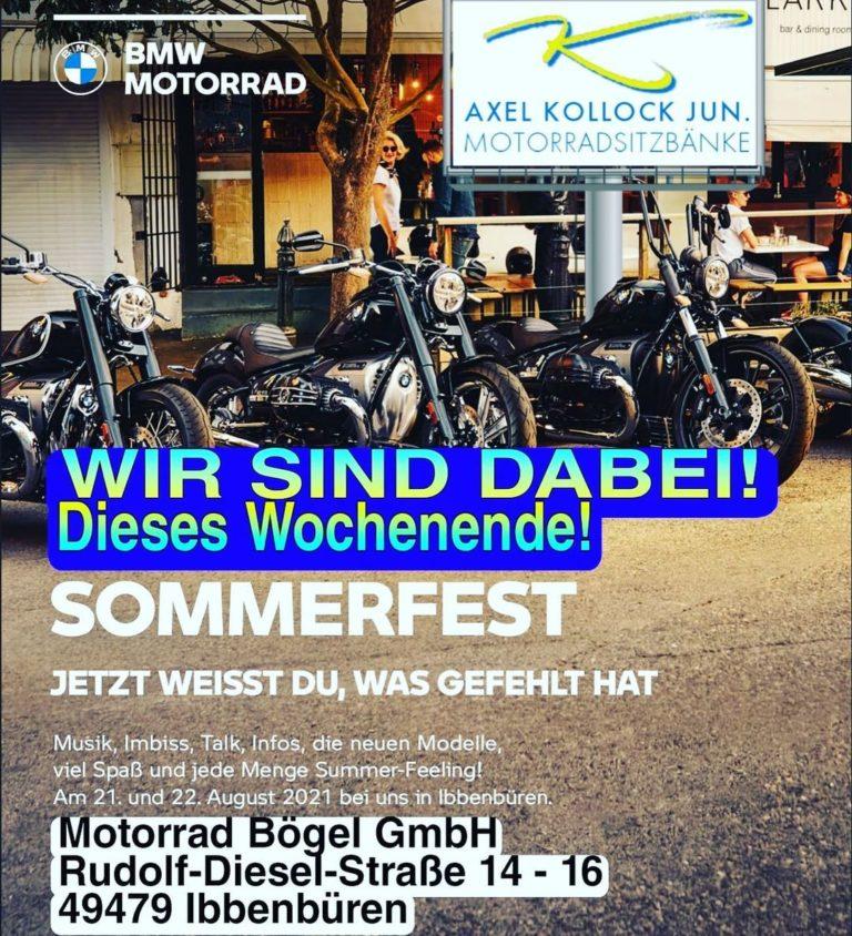 Sommerfest dieses Wochenende auf dem Gelände von Motorrad Bögel in Ibbenbüren